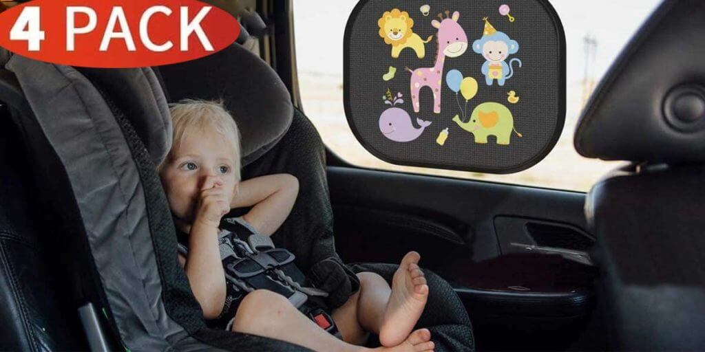PEYOU Car Window Shades for Baby