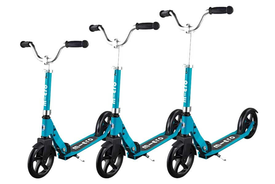 Micro Cruiser Scooter Aqua with Wide Handlebars