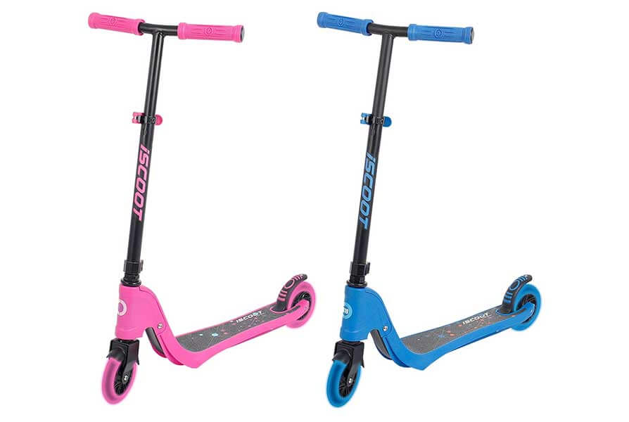 iScoot X10 Neon Blue Lightweight Best Kids Scooter
