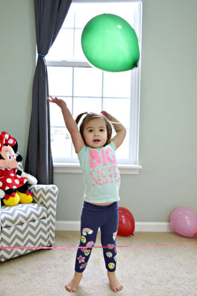 Balloon Toss to Improve Hand-eye Coordination