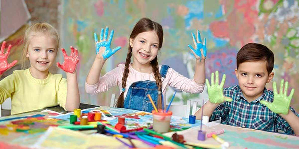 Finger Painting to Improve Hand-eye Coordination