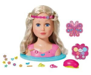 BABY Born Sister Styling Kids' Play Makeup & Hair Dressing Heads
