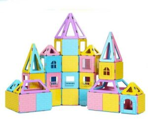 Dookey 141 PCS Magnetic Building Blocks Castle