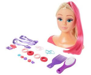 Girl's World Head with Pink Growing Hair