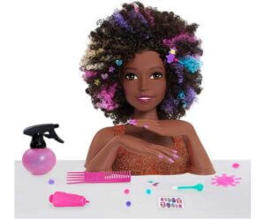 Sparkle Deluxe Styling Head-Afro Hair