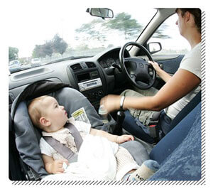 Baby Car Seat in the Front