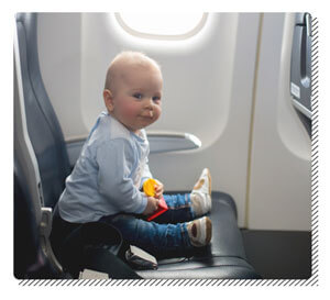 Empty Seat for Baby on Plane