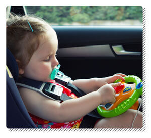 Give Toys When Baby Cries in Car
